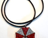 Resident Evil Umbrella Corporation Inspired Acrylic Necklace Tri Color