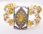 Yellow glass bracelet set