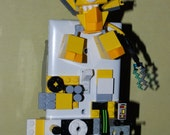 LEGO Mixel yellow & grey 3-D switch plate custom made, one of a kind. Unique gift for a LEGO lover!