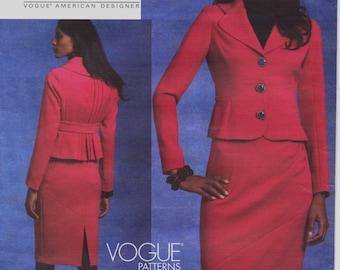 Tracy Reece Womens Princess Seam Jacket & Skirt OOP Vogue American Designer Sewing Pattern V1126 Size 16 18 20 22 Bust 38 40 42 44 UnCut