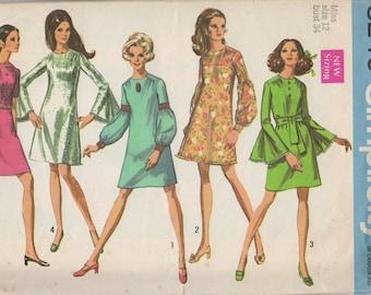 Bust 34-1969 Misses' Dress Simplicity 8240 Sz 12