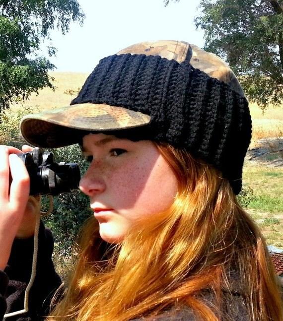 Items Similar To Crocheted Ball Cap Earwarmer Headband