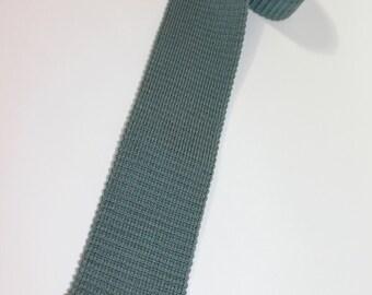 "vintage 70's - 80's -Rooster- Men's knit neck tie. Cotton Lisle. 2 3/8"" width. Nice..."