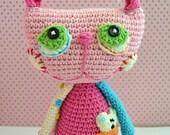 Crochet Pattern - Cat Lisa by VendulkaM /amigurumi, toy digital pattern/DIY