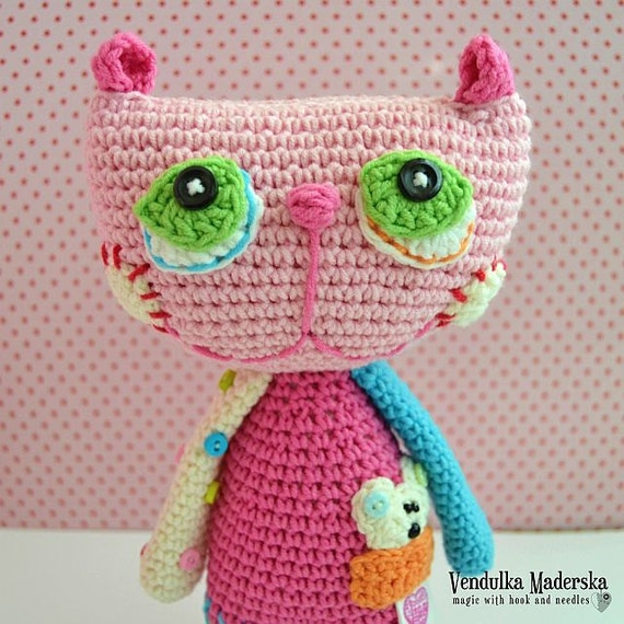 Gehaakt patroon - kat Lisa door VendulkaM /amigurumi, toy digitale patroon/DIY