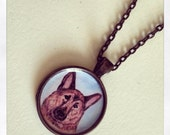 German Shepherd Pendant Necklace Wearable Art