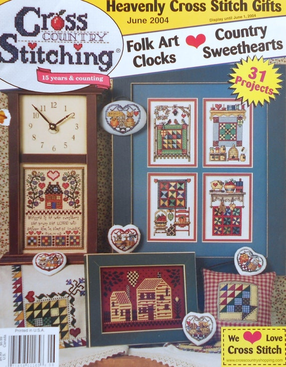 Cross country stitching four seasons quilts by jeremiah for Country living magazine cross stitch
