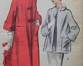 Fabulous Vintage 50's Misses' FULL Or SHORT COAT Factory Folded