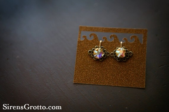 Beauty and the Beast Inspired Clip-on Jeweled Earrings