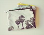 trousse de voyage les palmiers de Lisbonne / Small Couture