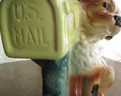Dog - Planter - Vase - Royal Copley - Mailbox - 1950s