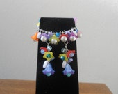 Flower Bouquet Bracelet and Earring Set