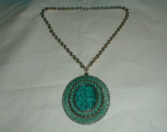 native american pendant necklace vintage