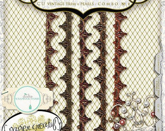 Digital Trim and Pearls by Papier Creatif - CU OK