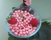 Italian Vintage Pink Pear  Beads