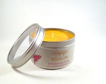 Orange Blossom Soy Candle -8 oz. tin