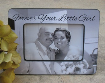Personalized Father of the Bride Picture Frame, Custom Wedding Picture Frame, Unique Parents Thank You Gift Photo Frame, Father's Day Gift