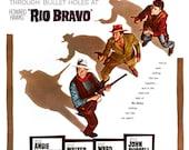 "Rio Bravo - Home Theater Media Room Decor - Classic Cowboy Western Movie Poster Print  13""x19"" - John Wayne - Dean Martin - Ricky Nelson"