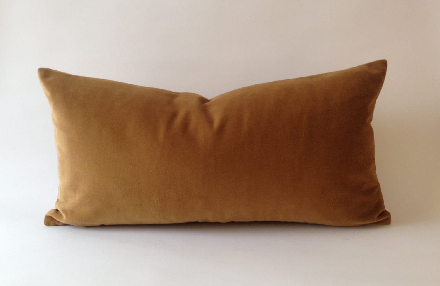 Decorative Bolster Pillow Covers : Camel Brown Decorative Bolster Pillow Cover Medium Weight