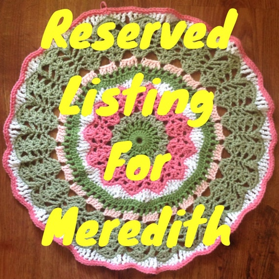 Crocheted Spare Tire Cover for Meredith.