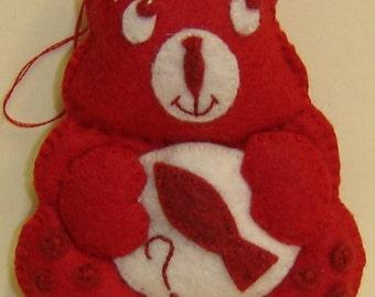 RED HERRING Bellie Bear by Tess Wentz of Tess Creates