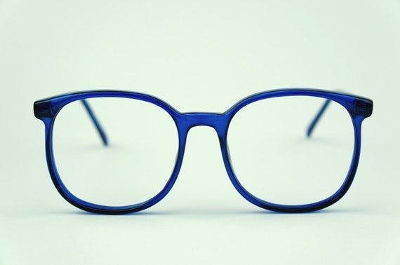 Big Blue Glasses Frames : Etsy - Your place to buy and sell all things handmade ...