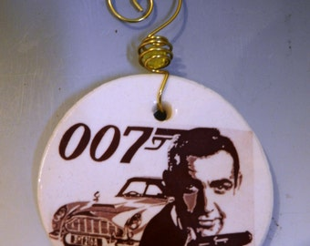 James Bond Christmas ornament