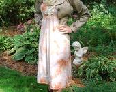 Tie Dye Vintage Slip Dress Orange