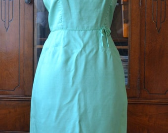 1950s Du-Rite of Toronto Mint Green Party Dress ./ vlv . Vintage Dress . 50s 60s . /