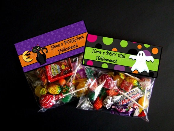 INSTANT DOWNLOAD - Printable Halloween Treat Bag Toppers ...