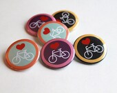 Heart Bicycles - Bikes | Magnet - Keychain - Button