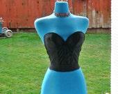 black   boned strapless sheer Corset size 32b