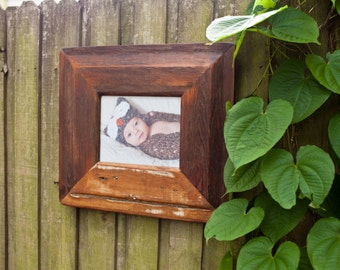 8x10 Rustic Wood Picture Frame Made From An Old Georgia Farm House