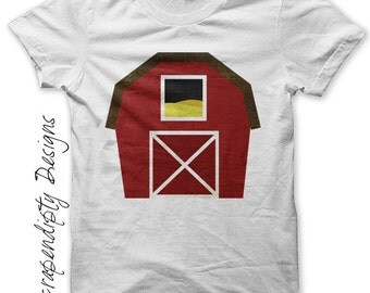 Barn Iron on Transfer - Iron on Farm Shirt / Kids Boys Clothing Tshirt / Farm Birthday Party / Barn Printable Digital / Baby Clothes IT256