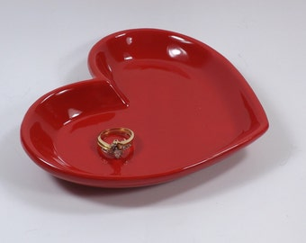 Popular items for heart shaped jewelry on etsy for Heart shaped jewelry dish