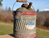 Rustic Delpho's Galvanized Gas Can