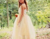 Flower Girl Bridesmaids Modest Tulle Formal Gown