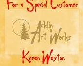 Special item for Karen Weston