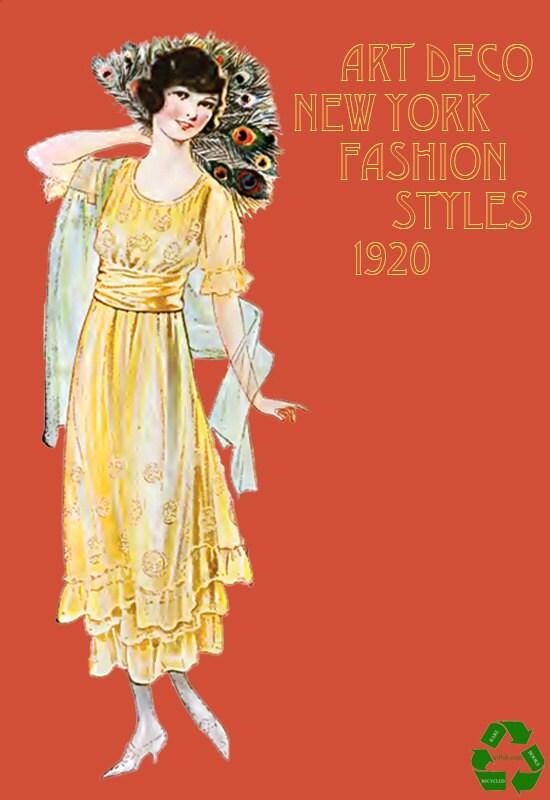 Art deco new york fashion styles magazine 100s of printable - Style new york deco ...