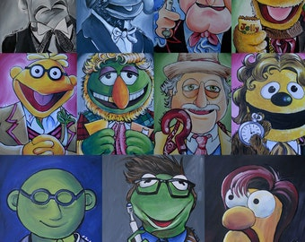 Muppets/ Doctor Who Mash-Up (print)