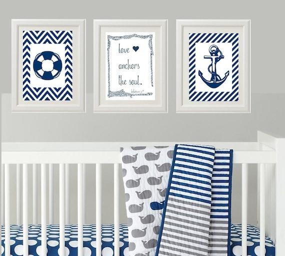 items similar to nautical baby nursery nursery wall art wall decor for baby boy 39 s room. Black Bedroom Furniture Sets. Home Design Ideas