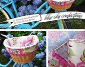 The Pink Poppy Bike Basket Liner