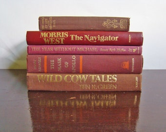 vintage book collection GOLDEN AUTUMN edition fall book stack