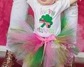 Lucky Charm St. Patrick's Day Tutu Outfit, St. Patrick's Day Birthday Tutu Outfit, St. Patrick's Day Pageant Outfit *Bow NOT Included*