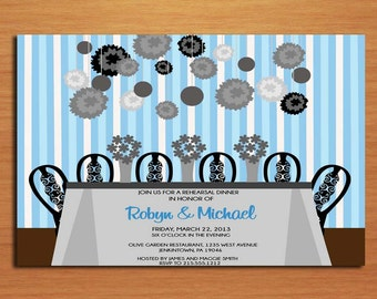 Something Blue / Wedding Rehearsal Dinner Party Invitation Cards PRINTABLE DIY