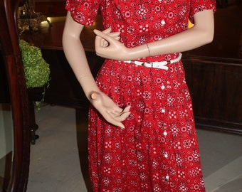 Vintage 1950's Day Dress  Item # 107-DD