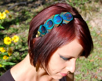 PEACOCK FANCY headband