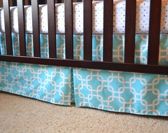 CUSTOM Crib Skirt -- Custom Box Pleated Crib Skirt for Baby/Toddler Crib