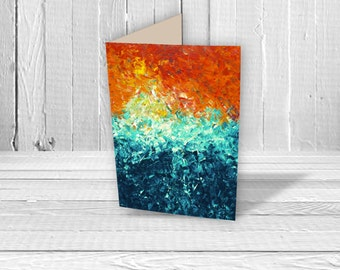 The Wave Greeting Card - Birthday Card, Wedding Card, New Home Card, Art Card, Collectible A5 Card