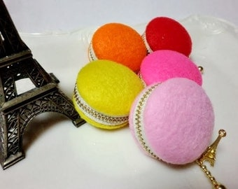 Felt macaroon coin purse/jewellery case - choose from 5 colours